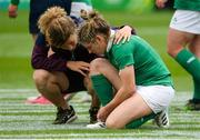 26 August 2017; Alison Miller of Ireland is comforted after the final whistle in the 2017 Women's Rugby World Cup, 7th Place Play-Off between Ireland and Wales at Kingspan Stadium in Belfast. Photo by Oliver McVeigh/Sportsfile