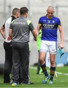 26 August 2017; Kieran Donaghy of Kerry shakes hands with manager Eamonn Fitzmaurice after being shown a red card during the GAA Football All-Ireland Senior Championship Semi-Final Replay match between Kerry and Mayo at Croke Park in Dublin. Photo by Brendan Moran/Sportsfile