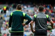 26 August 2017; Kerry selector Maurice Fitzgerald, and manager Éamonn Fitzmaurice during the GAA Football All-Ireland Senior Championship Semi-Final Replay match between Kerry and Mayo at Croke Park in Dublin. Photo by Ramsey Cardy/Sportsfile