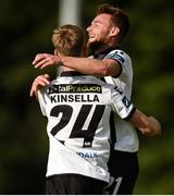 26 August 2017; Steven Kinsella of Dundalk, left, celebrates with team-mate Conor Clifford of Dundalk after scoring his side's third goal during the Irish Daily Mail FAI Cup Second Round match between Crumlin United and Dundalk at Iveagh Grounds in Drimnagh, Dublin. Photo by Cody Glenn/Sportsfile