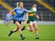26 August 2017; Nicole Owens of Dublin in action against Aisling O'Connell of Kerry during the TG4 Ladies Football All-Ireland Senior Championship Semi-Final match between Dublin and Kerry at Semple Stadium in Thurles, Co. Tipperary. Photo by Matt Browne/Sportsfile