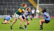 26 August 2017; Louise Ni Mhuircheartaigh of Kerry in action against Sinead Finnegan and Olwen Carey of Dublin during the TG4 Ladies Football All-Ireland Senior Championship Semi-Final match between Dublin and Kerry at Semple Stadium in Thurles, Co. Tipperary. Photo by Matt Browne/Sportsfile