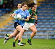 26 August 2017; Noelle Healy of Dublin in action against Aislinn Desmond of Kerry during the TG4 Ladies Football All-Ireland Senior Championship Semi-Final match between Dublin and Kerry at Semple Stadium in Thurles, Co. Tipperary. Photo by Matt Browne/Sportsfile