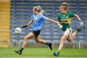 26 August 2017; Nicole Owens of Dublin in action against Ciara Murphy of Kerry during the TG4 Ladies Football All-Ireland Senior Championship Semi-Final match between Dublin and Kerry at Semple Stadium in Thurles, Co. Tipperary. Photo by Matt Browne/Sportsfile