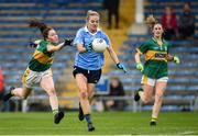 26 August 2017; Nicole Owens of Dublin in action against Elish Lynch of Kerry during the TG4 Ladies Football All-Ireland Senior Championship Semi-Final match between Dublin and Kerry at Semple Stadium in Thurles, Co. Tipperary. Photo by Matt Browne/Sportsfile