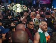 26 August 2017; Conor McGregor prior to his super welterweight boxing match against Floyd Mayweather Jr at T-Mobile Arena in Las Vegas, USA. Photo by Stephen McCarthy/Sportsfile