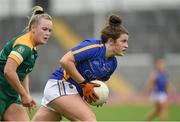 26 August 2017; Roisin Howard of Tipperary in action against Vikki Wall of Meath during the TG4 Ladies Football All-Ireland Intermediate Championship Semi-Final match between Meath and Tipperary at Semple Stadium in Thurles, Co. Tipperary. Photo by Matt Browne/Sportsfile