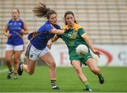 26 August 2017; Niamh O'Sullivan of Meath in action against Maria Curley of Tipperary during the TG4 Ladies Football All-Ireland Intermediate Championship Semi-Final match between Meath and Tipperary at Semple Stadium in Thurles, Co. Tipperary. Photo by Matt Browne/Sportsfile