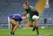 26 August 2017; Orlagh McLoughlin of Meath in action against Roisin Howard of Tipperary during the TG4 Ladies Football All-Ireland Intermediate Championship Semi-Final match between Meath and Tipperary at Semple Stadium in Thurles, Co. Tipperary. Photo by Matt Browne/Sportsfile