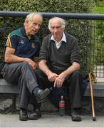 27 August 2017; Meath men Tommy Lally, left, and former Chairman Barney Allen relax before the GAA Football All-Ireland Senior Championship Semi-Final match between Dublin and Tyrone at Croke Park in Dublin. Photo by Ray McManus/Sportsfile