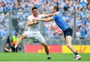 27 August 2017; Pádraig Hampsey of Tyrone is tackled by Dean Rock of Dublin during the GAA Football All-Ireland Senior Championship Semi-Final match between Dublin and Tyrone at Croke Park in Dublin. Photo by Ramsey Cardy/Sportsfile