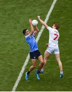 27 August 2017; Niall Scully of Dublin in action against Peter Harte of Tyrone during the GAA Football All-Ireland Senior Championship Semi-Final match between Dublin and Tyrone at Croke Park in Dublin. Photo by Daire Brennan/Sportsfile