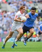 27 August 2017; Peter Harte of Tyrone is tackled by Cian O'Sullivan of Dublin during the GAA Football All-Ireland Senior Championship Semi-Final match between Dublin and Tyrone at Croke Park in Dublin. Photo by Ramsey Cardy/Sportsfile