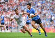 27 August 2017; Cian O'Sullivan of Dublin is tackled by Mark Bradley of Tyrone during the GAA Football All-Ireland Senior Championship Semi-Final match between Dublin and Tyrone at Croke Park in Dublin. Photo by Ramsey Cardy/Sportsfile