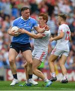 27 August 2017; Philip McMahon of Dublin in action against Peter Harte of Tyrone during the GAA Football All-Ireland Senior Championship Semi-Final match between Dublin and Tyrone at Croke Park in Dublin. Photo by Brendan Moran/Sportsfile