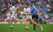 27 August 2017; Tiernan McCann of Tyrone in action against James McCarthy of Dublin during the GAA Football All-Ireland Senior Championship Semi-Final match between Dublin and Tyrone at Croke Park in Dublin. Photo by Brendan Moran/Sportsfile