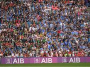 27 August 2017; Dublin and Tyrone supporters watch from the Davin Stand during the GAA Football All-Ireland Senior Championship Semi-Final match between Dublin and Tyrone at Croke Park in Dublin. Photo by Ray McManus/Sportsfile