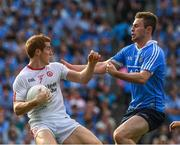 27 August 2017; Peter Harte of Tyrone in action against Jack McCaffrey of Dublin during the GAA Football All-Ireland Senior Championship Semi-Final match between Dublin and Tyrone at Croke Park in Dublin. Photo by Ray McManus/Sportsfile