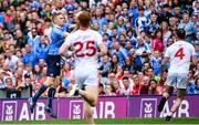 27 August 2017; Eoghan O'Gara of Dublin scores his side's second goal of the game during the GAA Football All-Ireland Senior Championship Semi-Final match between Dublin and Tyrone at Croke Park in Dublin. Photo by Ramsey Cardy/Sportsfile