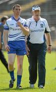 27 May 2012; Monaghan manager Eamon McEneaney, right, along with Thomas Freeman before the game. Ulster GAA Football  Senior Championship Quarter Final, Monaghan v Antrim, St Tiernach's Park, Clones, Co. Monaghan. Picture credit: Oliver McVeigh / SPORTSFILE