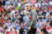 27 August 2017; Tyrone manager Mickey Harte during the GAA Football All-Ireland Senior Championship Semi-Final match between Dublin and Tyrone at Croke Park in Dublin. Photo by Ramsey Cardy/Sportsfile