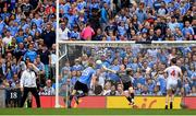 27 August 2017; Eoghan O'Gara of Dublin scores his side's second goal during the GAA Football All-Ireland Senior Championship Semi-Final match between Dublin and Tyrone at Croke Park in Dublin. Photo by Brendan Moran/Sportsfile
