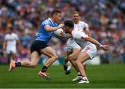 27 August 2017; Con O'Callaghan of Dublin in action against Tiernan McCann of Tyrone during the GAA Football All-Ireland Senior Championship Semi-Final match between Dublin and Tyrone at Croke Park in Dublin. Photo by Ray McManus/Sportsfile