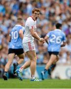 27 August 2017; Peter Harte of Tyrone reacts after losing possession during the GAA Football All-Ireland Senior Championship Semi-Final match between Dublin and Tyrone at Croke Park in Dublin. Photo by Piaras Ó Mídheach/Sportsfile
