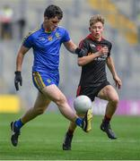 27 August 2017; Paul McManus of Roscommon in action against Oisín McHugh of Tyrone during the All-Ireland U17 Football Championship Final match between Tyrone and Roscommon at Croke Park in Dublin. Photo by Brendan Moran/Sportsfile
