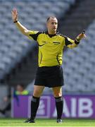 27 August 2017; Referee Brendan Cawley during the All-Ireland U17 Football Championship Final match between Tyrone and Roscommon at Croke Park in Dublin. Photo by Brendan Moran/Sportsfile