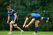 28 August 2017; Leinster's Cian Healy, right, and Jamie Heaslip during squad training at UCD in Dublin. Photo by Ramsey Cardy/Sportsfile