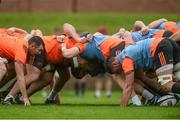 28 August 2017; A general view of a scrum during Munster Rugby Squad Training at the University of Limerick in Limerick. Photo by Diarmuid Greene/Sportsfile