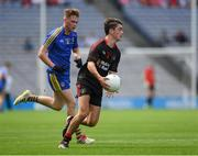 27 August 2017; Darragh Canavan of Tyrone in action against Dylan Horan of Roscommon during the All-Ireland U17 Football Championship Final match between Tyrone and Roscommon at Croke Park in Dublin. Photo by Ray McManus/Sportsfile
