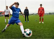 29 August 2017; Pictured at the launch of the Bank of Ireland Post Primary Competition is Saint Joseph's Patrician College - The Bish Co. Galway player Gary Higgins in action at FAI Headquarters Abbotstown, Co Dublin. Photo by Cody Glenn/Sportsfile