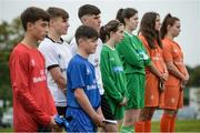 29 August 2017; Pictured at the launch of the Bank of Ireland Post Primary Competition are players from St. Laurence College Co. Dublin, Mulroy College, Co. Donegal, Rochestown College Co. Cork, and Saint Joseph's Patrician College, Co. Galway watching the Republic of Ireland Squad Training at FAI Headquarters Abbotstown, Co Dublin. Photo by Cody Glenn/Sportsfile