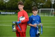 29 August 2017; Pictured at the launch of the Bank of Ireland Post Primary Competition are Saint Joseph's Patrician College - The Bish Co. Galway players James Egan and Gary Higgins at FAI Headquarters Abbotstown, Co Dublin. Photo by Cody Glenn/Sportsfile