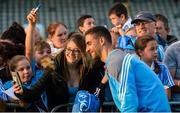 30 August 2017; Dublin footballer James McCarthy with Emma Irwin during a meet and greet with supporters at Parnell Park in Dublin. Photo by Piaras Ó Mídheach/Sportsfile