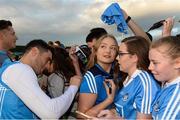 30 August 2017; Dublin footballer Bernard Brogan signs an autograph for Ugne Byrne, from Malahide, during a meet and greet with supporters at Parnell Park in Dublin. Photo by Piaras Ó Mídheach/Sportsfile