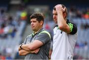 26 August 2017; Kerry manager Eamonn Fitzmaurice and selector Padraig Corcoran during the GAA Football All-Ireland Senior Championship Semi-Final Replay match between Kerry and Mayo at Croke Park in Dublin. Photo by Ramsey Cardy/Sportsfile