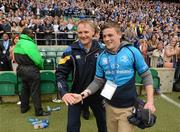 19 May 2012; Leinster head coach Joe Schmidt and his son Tim following his side's victory. Heineken Cup Final, Leinster v Ulster, Twickenham Stadium, Twickenham, England. Picture credit: Stephen McCarthy / SPORTSFILE