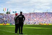 27 August 2017; Tyrone manager Mickey Harte and selector Gavin Devlin during the GAA Football All-Ireland Senior Championship Semi-Final match between Dublin and Tyrone at Croke Park in Dublin. Photo by Ramsey Cardy/Sportsfile