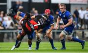 2 September 2017; James Benjamin of Dragons is tackled by Isa Nacewa of Leinster during the Guinness PRO14 Round 1 match between Dragons and Leinster at Rodney Parade in Newport, Wales. Photo by Ramsey Cardy/Sportsfile