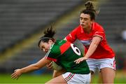 2 September 2017; Rachel Kearns of Mayo in action against Doireann O'Sullivan of Cork during the TG4 Ladies Football All-Ireland Senior Championship Semi-Final match between Cork and Mayo at Kingspan Breffni in Cavan. Photo by Sam Barnes/Sportsfile