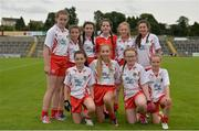 2 September 2017; Players from Sigerson's Strabane, representing Tyrone in the half time Mini Games during the TG4 Ladies Football All-Ireland Intermediate Championship Semi-Final match between Sligo and Tyrone at Kingspan Breffni in Cavan. Photo by Sam Barnes/Sportsfile