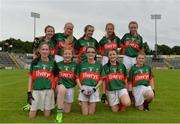 2 September 2017; Players from CL McHales, representing Mayo, following the half time Mini Games during the TG4 Ladies Football All-Ireland Senior Championship Semi-Final match between Cork and Mayo at Kingspan Breffni in Cavan. Photo by Sam Barnes/Sportsfile