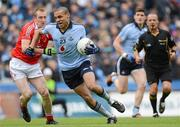 3 June 2012; Craig Dias, Dublin, in action against Ray Finnegan, Louth. Leinster GAA Football Senior Championship Quarter-Final, Louth v Dublin, Croke Park, Dublin. Picture credit: Stephen McCarthy / SPORTSFILE