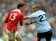 3 June 2012; Derek Maguire, Louth, in action against Craig Dias, Dublin. Leinster GAA Football Senior Championship Quarter-Final, Louth v Dublin, Croke Park, Dublin. Picture credit: Paul Mohan / SPORTSFILE