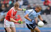 3 June 2012; Craig Dias, Dublin, in action against Ray Finnegan, Louth. Leinster GAA Football Senior Championship Quarter-Final, Louth v Dublin, Croke Park, Dublin. Picture credit: Ray McManus / SPORTSFILE