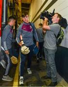 3 September 2017; Jack Canning of Galway arrives ahead of the Electric Ireland GAA Hurling All-Ireland Minor Championship Final match between Galway and Cork at Croke Park in Dublin. Photo by Sam Barnes/Sportsfile