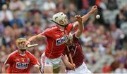 3 September 2017; Seán O'Leary Hayes of Cork in action against Jack Canning of Galway during the Electric Ireland GAA Hurling All-Ireland Minor Championship Final match between Galway and Cork at Croke Park in Dublin. Photo by Piaras Ó Mídheach/Sportsfile